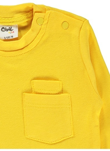 Civil Baby Civil Baby Erkek Bebek Sweatshirt 6-18 Ay Hardal Civil Baby Erkek Bebek Sweatshirt 6-18 Ay Hardal Hardal
